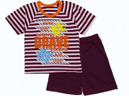 Комплект мальчиковый футболка и шорты  (КМ- 05 кулир вязаный  )