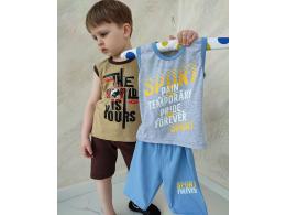 Комплект мальчиковый безрукавка и шорты (КМ-06 стрейч кулир)