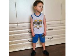 Комплект мальчиковый безрукавка и шорты (КМ-06 фуликра однотонная)