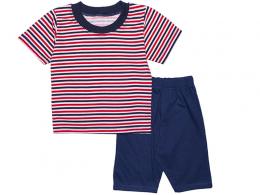 Комплект мальчиковый футболка и шорты (КМ-10 кулир пинье)