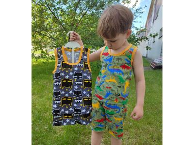 Комплект для мальчика борцовка и шорты (КМ-13 кулир набивной)