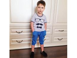Комплект мальчиковый футболка и бриджи (КМ-16 фуликра однотонная)
