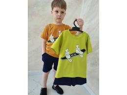 Комплект мальчиковый футболка и шорты (КМ-18 стрейч кулир)