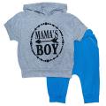 Комплект мальчиковый футболка и бриджи (КМ-04 фуликра однотонная)