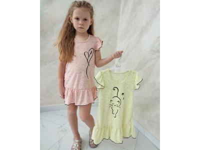 Платье детское для девочки  ( ПЛ-04 кулир рябчик )