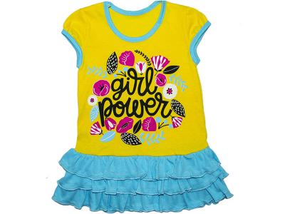 Платье детское для девочки  (ПЛ-26 кулир)